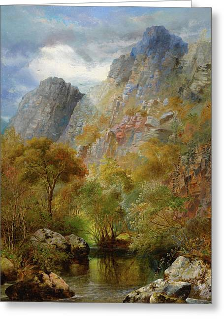 Sharpitor Rocks Greeting Card by William Widgery