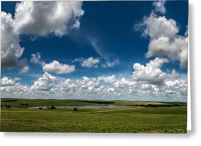 Sharps Creek Road Panorama Greeting Card