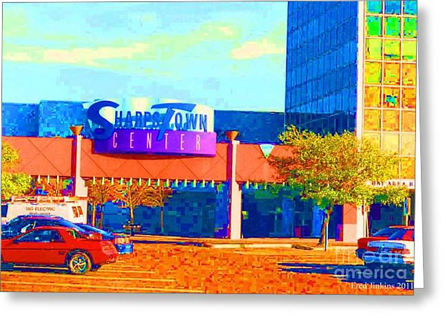 Sharpstown Mall Painting Greeting Card