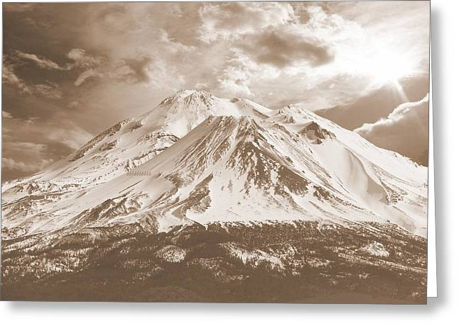 Greeting Card featuring the photograph Shasta Mt by Athala Carole Bruckner