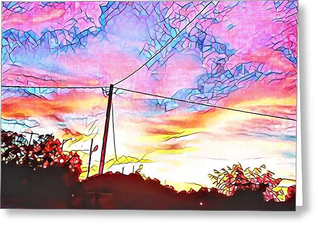 Carnival Sky Greeting Card by Anthony Draven