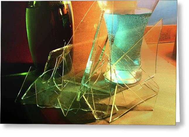 Shattering Greeting Cards - Shattered Greeting Card by Barbara  White