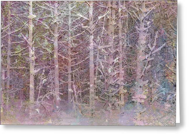 Shattered Forest Greeting Card