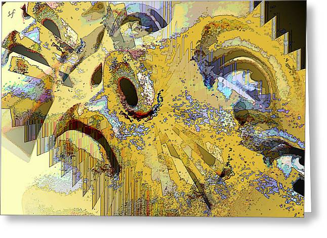 Shattered Illusions Greeting Card
