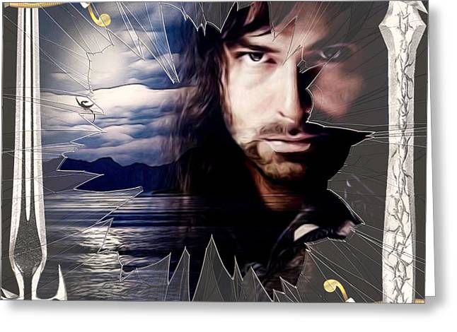 Shattered Kili With Swords Greeting Card