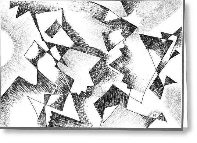 Shattered - Light Version Greeting Card by Helena Tiainen