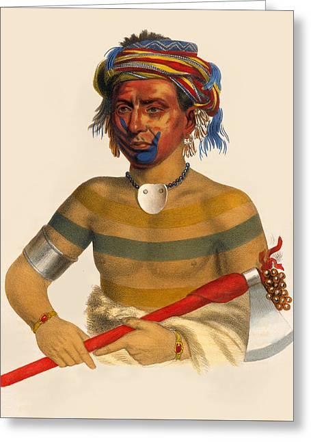 Shau-hau-napo-tinia An Ioway Chief Greeting Card
