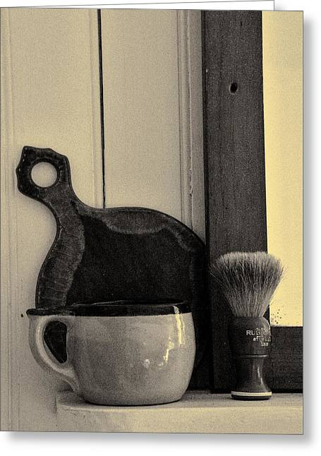 Shaving Brush And Mug Greeting Card