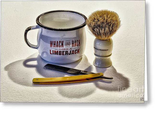 Greeting Card featuring the photograph Shaving Still Life by Walt Foegelle