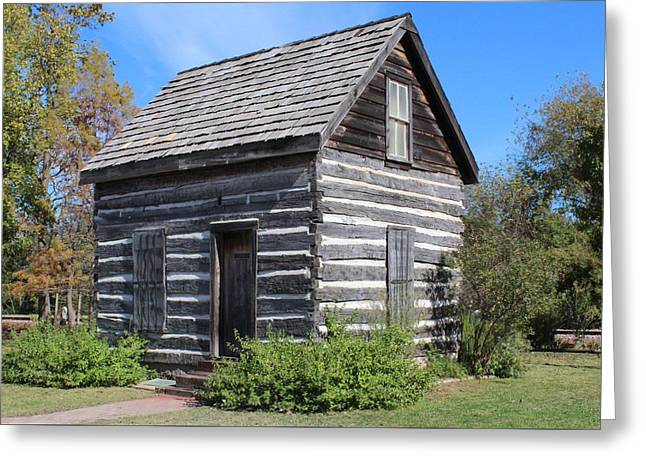 Shawnee Cabin Greeting Card by John Adams