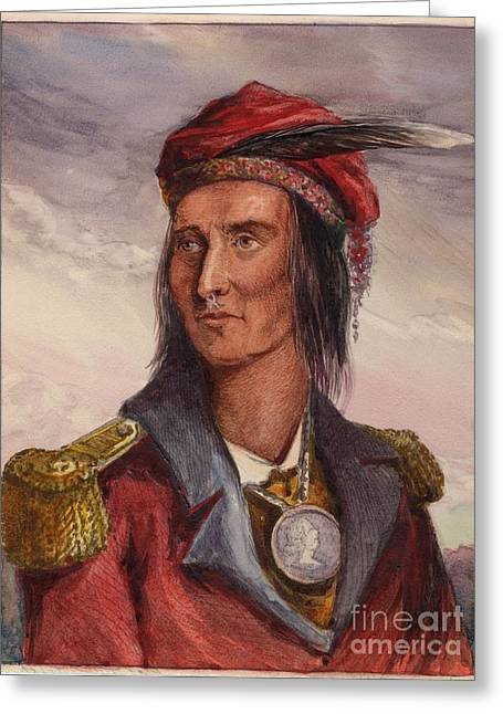 Shawnee Chief Tecumseh Greeting Card