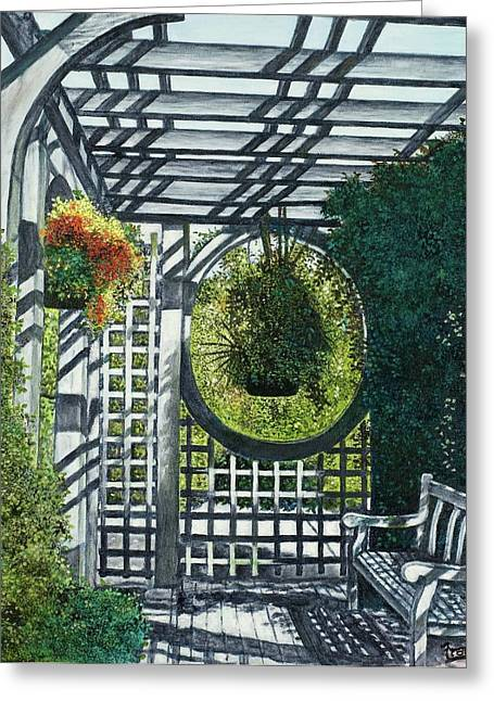 Shaw's Garden Place Of Solitude Greeting Card by Michael Frank