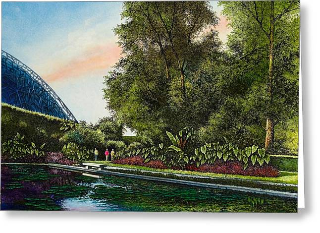 Shaw's Gardens Climatron Greeting Card by Michael Frank