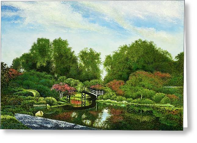 Shaw's Japanese Gardens Greeting Card by Michael Frank