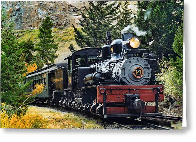 Steam Locomotive Greeting Cards - Shay on the Georgetown Loop Greeting Card by Ken Smith