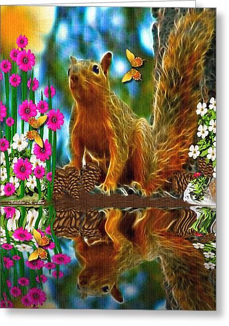 Shaylene Squirrel Greeting Card by Madeline  Allen - SmudgeArt