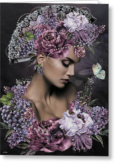 She Cast Her Fragrance Greeting Card by G Berry