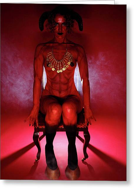 She-devil Greeting Card by Nicky and the Firmins