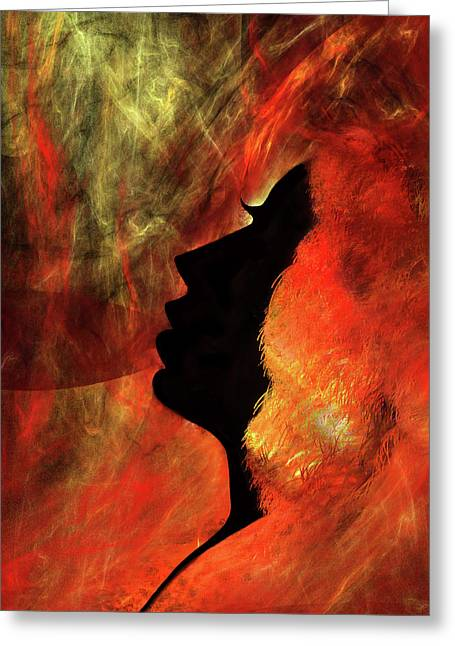 She Is Fire Greeting Card by Paul St George