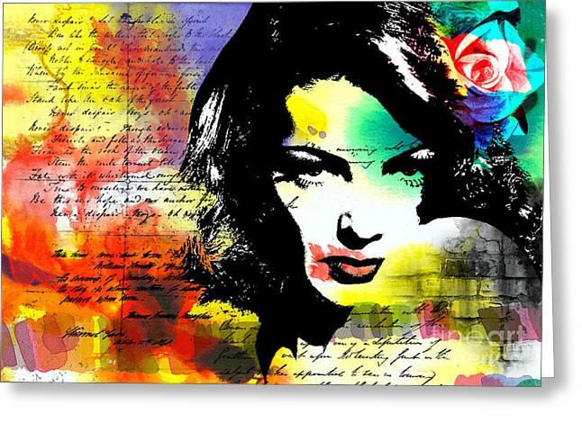 She Knew Greeting Card by Ramneek Narang