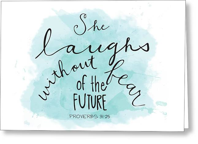She Laughs Greeting Card by Nancy Ingersoll