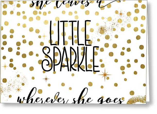 She Leaves A Little Sparkle Greeting Card by Mindy Sommers
