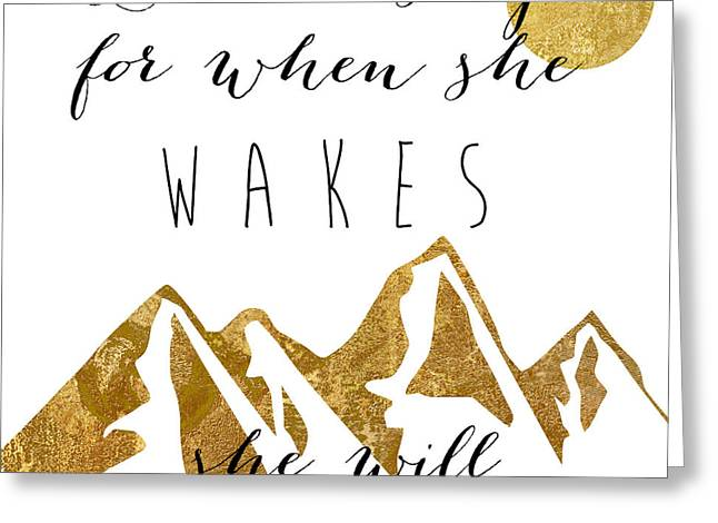 She Moves Mountains Greeting Card
