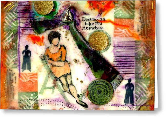 Survivor Art Greeting Cards - She Remained True Greeting Card by Angela L Walker