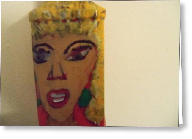 She Rocks Greeting Card by Rhonda Jackson