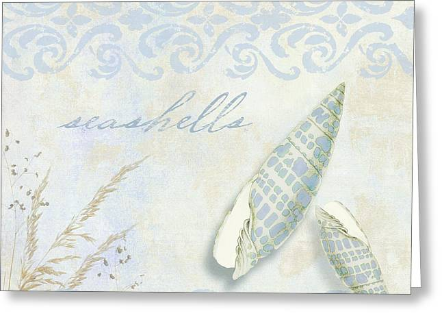 She Sells Seashells II Greeting Card by Mindy Sommers