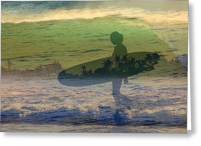 She Surf Greeting Card by Jim  Welch