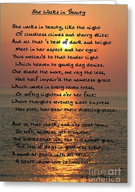 Gloaming Greeting Cards - She Walks In Beauty-Cape May Sunset Greeting Card by Susan Stevenson