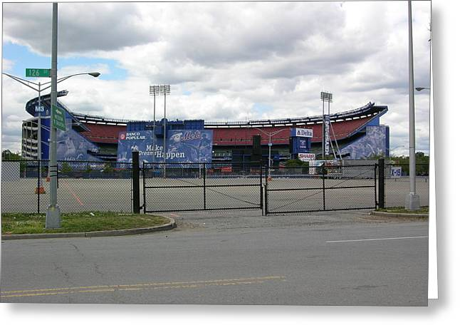 Shea Stadium Greeting Cards - Shea Stadium New York 2009 Greeting Card by Christina Martinez