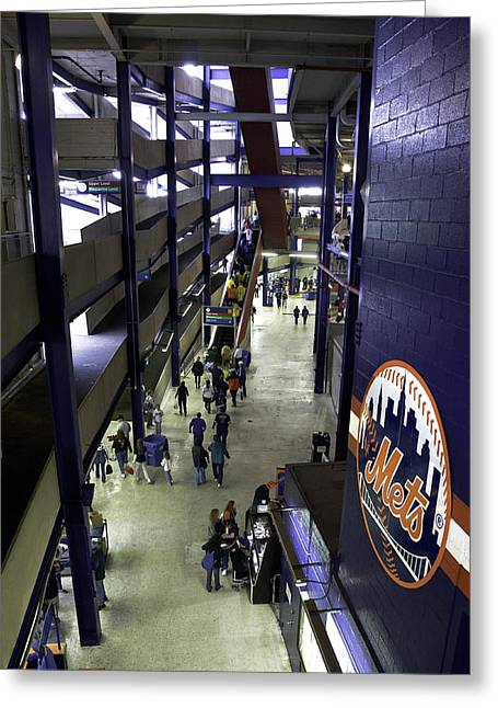 Shea Stadium Walkways Greeting Card by Paul Plaine