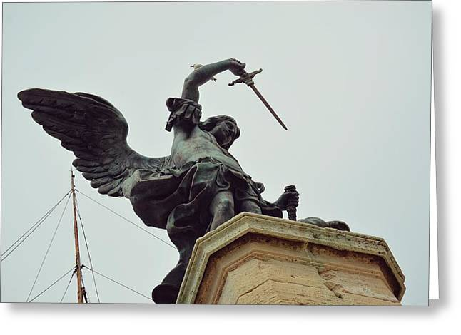 Sheathing His Sword Greeting Card by JAMART Photography