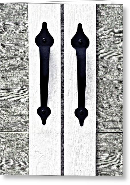 Shed Door Handles Greeting Card by Ethna Gillespie
