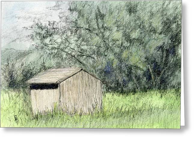 Shed In The Field Greeting Card