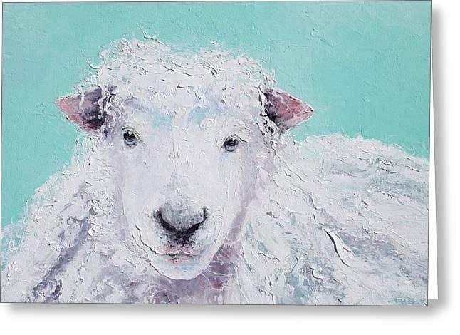 Sheep Art - Jeremiah Greeting Card