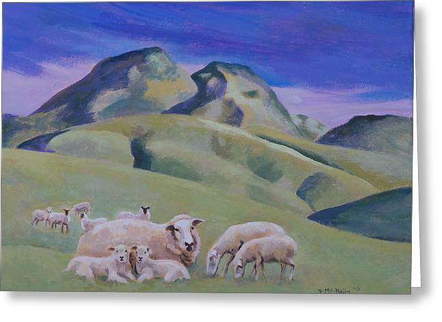 Sheep At Sutter Buttes Greeting Card