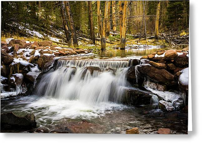 Sheep Creek Waterfall Greeting Card by TL Mair