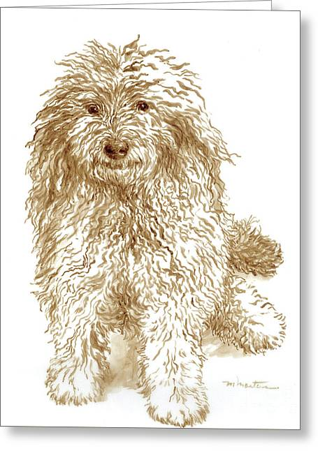 Sheep Dog Greeting Card by Meridith Martens