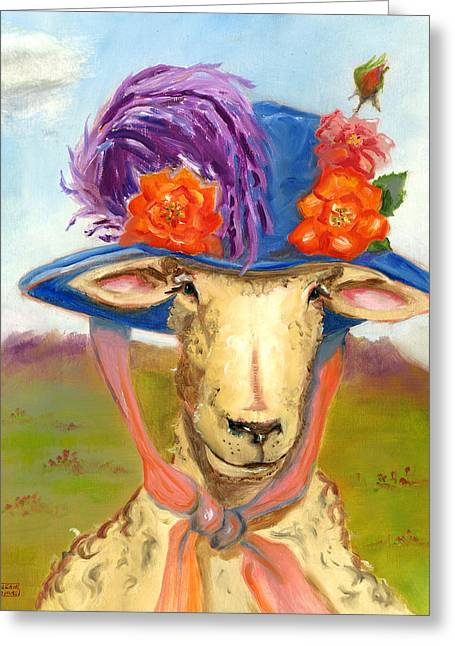 Sheep In Fancy Hat Greeting Card