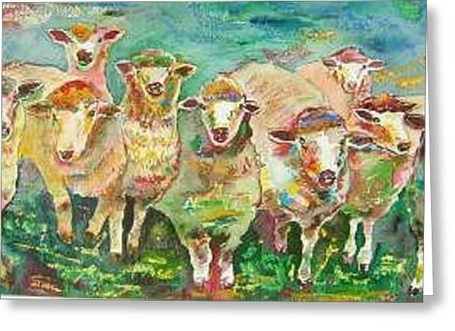 Sheep Marketing Board Greeting Card by Naomi Gerrard