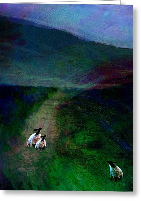 Sheep On The Moor Greeting Card