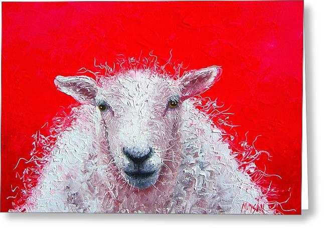 Sheep Painting Victor Greeting Card