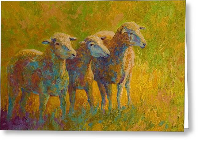 Sheep Trio Greeting Card