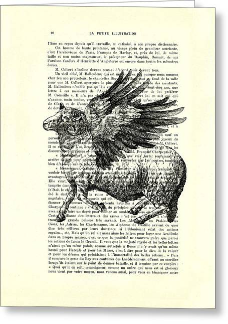 Sheep With Angel Wings Black And White  Greeting Card