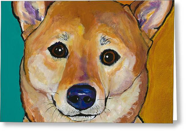 Sheila Greeting Card by Pat Saunders-White