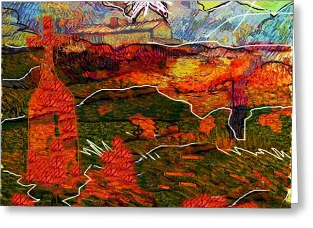 Shekinah...after Van Gogh  Greeting Card by Paul Sutcliffe