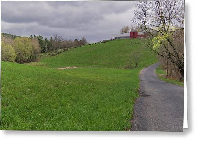 Shelburne Country Road Greeting Card by Tom Singleton